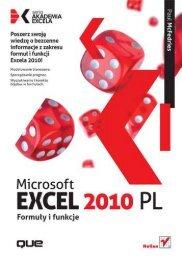 Microsoft Excel 2010 PL. Formuły i funkcje. Akademia ... - Structum