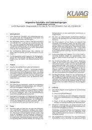 Allgemeine Geschäfts- und Lieferbedingungen - kuvag