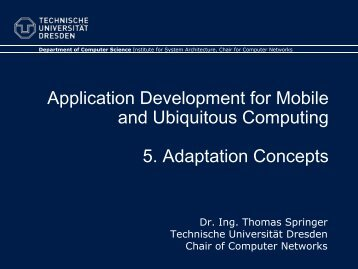 5. Adaptation - Faculty of Computer Science - Technische ...