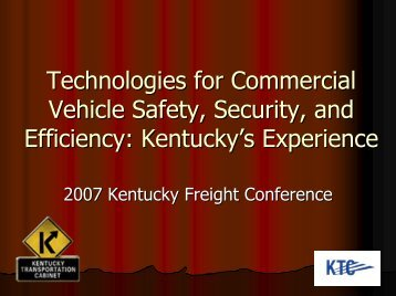 ITS Applications for Homeland Security - Kentucky Transportation ...