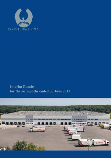 Interim Results for the six months ended 30 June 2013