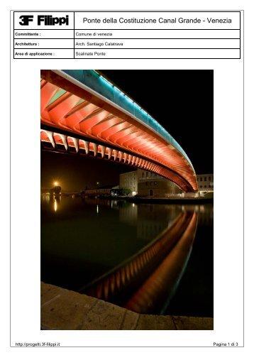 Ponte della Costituzione Canal Grande - Venezia - 3F Filippi