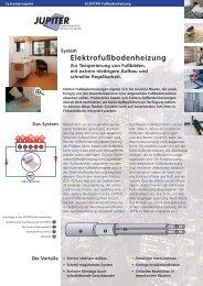 Elektrofußbodenheizung - JUPITER Heizsysteme GmbH