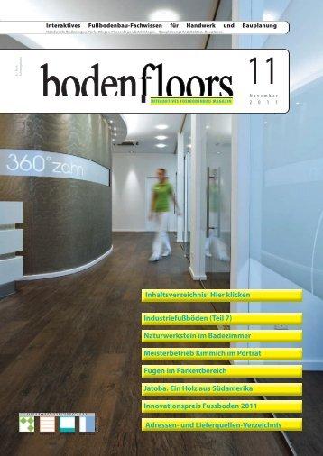 boden-floors | Ausgabe 11/2011 - EstrichTechnik