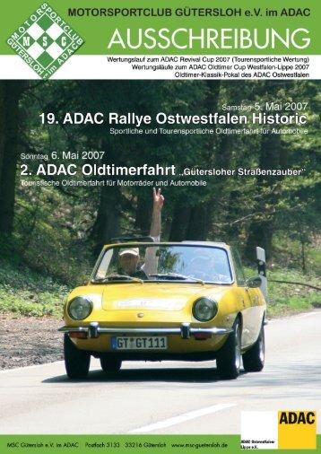 19. ADAC-Rallye Ostwestfalen Historic