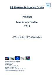 Katalog BS Elektronik Service GmbH 2013 Aluminium Profile