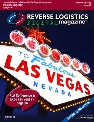 RLA Conference & Expo Las Vegas - Reverse Logistics Magazine