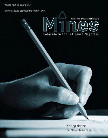 Writing Matters - Mines Magazine - Colorado School of Mines