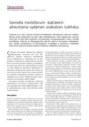 Gemella morbillorum ‑bakteerin aiheuttama ... - Terveyskirjasto