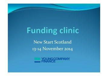 New Start Scotland 2014 YCF slides