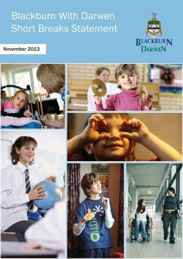 Short Breaks Statement - Blackburn with Darwen Borough Council