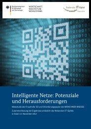 Intelligente Netze: Potenziale und Herausforderungen - IT-Gipfel