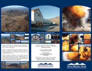EMRTC Promotional Brochure - Energetic Materials Research and ...