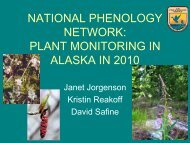NATIONAL PHENOLOGY NETWORK: PLANT MONITORING IN ...
