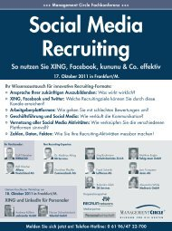 Konferenz: Social Media Recruiting - Management Circle AG