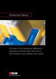 PDF Datei: Broschüre / R&M / Verkabelungssysteme
