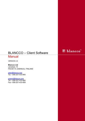 Blancco Client Software Manual