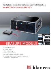 Blancco Erasure Module - sidave GmbH