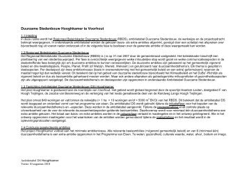 Bijlage 12 Ambitietabel Duurzame Stedenbouw Hooghkamer, 10 ...