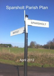 Sparsholt - Oxfordshire County Council