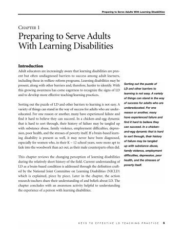 adults with learning disabilities essay Disability essay what is disability a disability is any condition of the body or mind (impairment) that makes it more difficult for the person with the condition to do certain activities (activity limitation) and interact with the world around them (participation restrictions.
