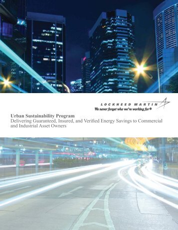 Urban Sustainability Program Delivering ... - Lockheed Martin