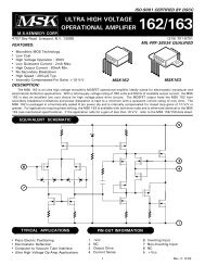 ULTRA HIGH VOLTAGE OPERATIONAL AMPLIFIER