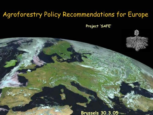 Agroforestry Policy Recommendations for Europe - INRA Montpellier