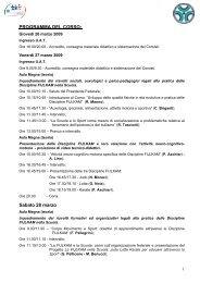 Clicca qui per il programma dettagliato del corso - Fijlkam