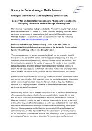 Exposure to endocrine-disrupting chemicals and earlier age of ...