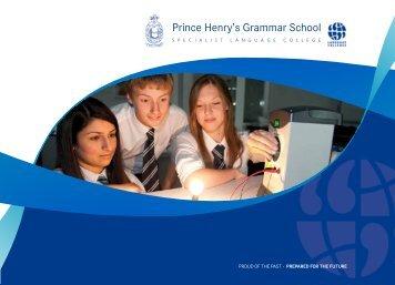 School Prospectus - Prince Henrys Grammar School