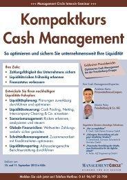 Seminar: Kompaktkurs Cash Management - Management Circle AG