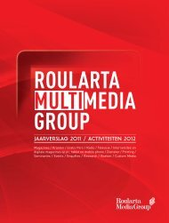 rmg jaarverslag 2011 - Roularta Media Group
