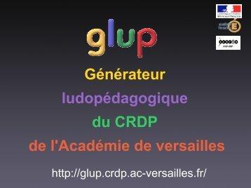 Générateur ludopédagogique du CRDP de l'Académie de versailles