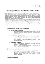 Marketing and Selling Your Film Around the World - FAMU