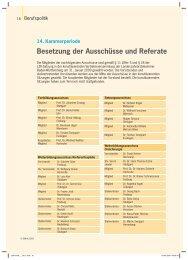 Besetzung der Ausschüsse und Referate - Zahnärzteblatt Baden ...