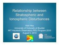 Presentation - MIT Haystack Observatory