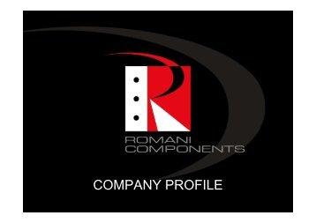 Company Profile 2012 uk - Romani Components