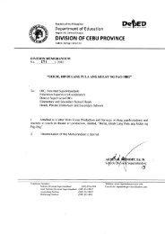 Memo No. 171, S. 2012 - DepEd Cebu Province