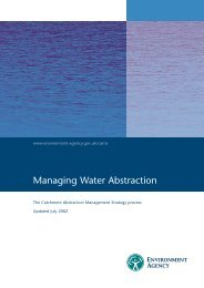 EA. (2002). Managing Water Abstraction. - Salmon & Trout Association