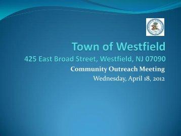 Westfield High School Community Outreach Parking Presentation