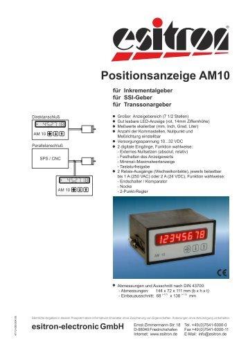 Positionsanzeige AM10 - esitron