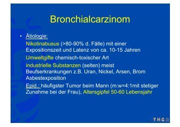 Bronchialcarzinom - FINeST
