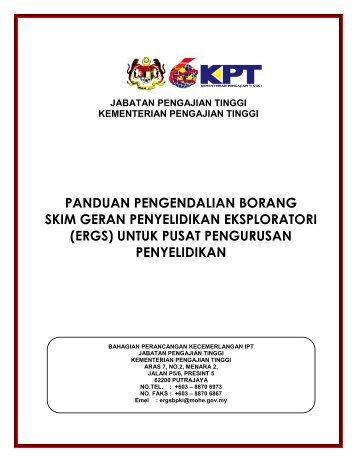 Panduan Pengendalian Borang ERGS Untuk Pusat Pengurusan ...