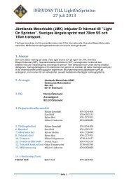 INBJUDAN TILL LightOnSprinten 27 juli 2013