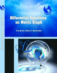 differential equations on metric graph - Wseas.us