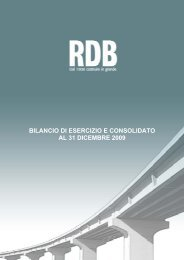 bilancio di esercizio e consolidato al 31 dicembre 2009 - Rdb