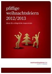 pfiffige weihnachtsfeiern 2011/2012 - more-event.de