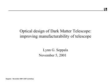 Optical Design of the Dark Matter Telescope - LSST