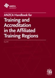 ANZCA Handbook for Training and Accreditation in the Affiliated ...